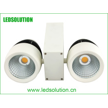 Double Heads 50W Dimmable COB LED Track Light for Commercial