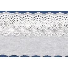 Afiação de spandex/laço de nylon bordado popular para o vestido de casamento do laço