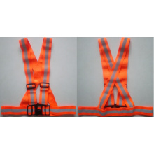 5cm orange reflecting safety elastic belt