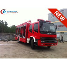 Exporter vers le Mozambique camion de pompiers à poudre ISUZU