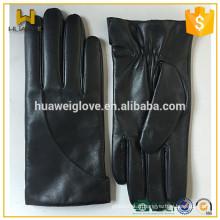 Gants d'hiver en cuir nappa noir pour hommes