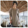 2017 Long Design 100% Cachemire Pull