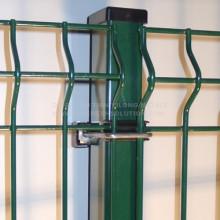 Rechteckiger Pfosten für Zaunplatte mit Clips