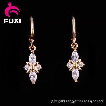 Factory Price18k Gold Gemstone Chandelier Earrings