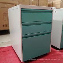 Armário de arquivamento de armazenamento de uso do escritório 3 armário de metal móvel pedestal gaveta