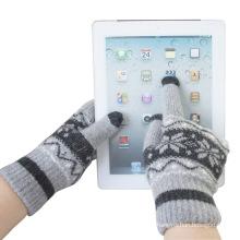Men \ u0026 moda inverno lã de malha de tela de toque luvas mágicas (yky5453)