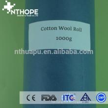Rollos de algodón absorbentes médicos de 1 kg