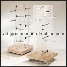 Rotatable Wooden Wardrobes/Garment Store Display Rack/Garment Exhibition Stand