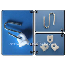 Awning components-curtain runner-Iron galvanized steel hanger with white plastic,outdoor awing shades,awning accessories