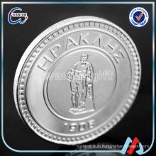 2016 изготовленный на заказ гравированный логотип уникальные серебряные монеты