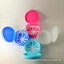 Caixa de dentadura de plástico colorido de boa qualidade