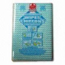 Tissu de nettoyage en dentelle filé, lingettes non tissées