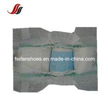 Fralda do bebê da marca do OEM com Backsheet pano-Como e fita de Velcro e cintura elástica, venda por atacado unisex do fralda do bebê em torno do mundo