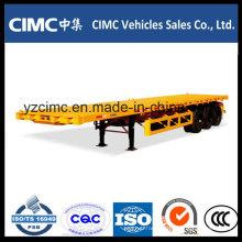 Cimc 3 Axles Flat Bed Container Semi Trailer