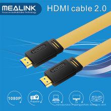 HDMI 2.0V Flat câble Support 4k@60Hz, 18gpbs