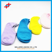 Summer plain color bulk cotton thin shallow mouth invisible socks