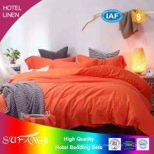 Literie d'hôtel / ensemble de couverture de lit de couleur unie de coton et de lin