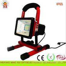 10W Portable Rechargeable Automotive Caution LED Flood Light with CE/RoHS