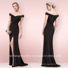 Оптовая Русалка платье off-плечи сексуальный черный Вечерние платья