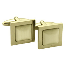 Stainless steel men's cufflink machine plated gold,rose gold for small MOQ