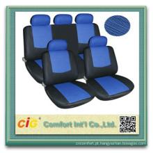 Tampas de assento de carro do preço do competidor mais barato polyeaster azul