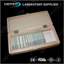 Caja de almacenaje para diapositivas de cristal Material de madera