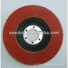 Discos de lijado de óxido de alúmina de fibra de vidrio roja de 150 mm para metal
