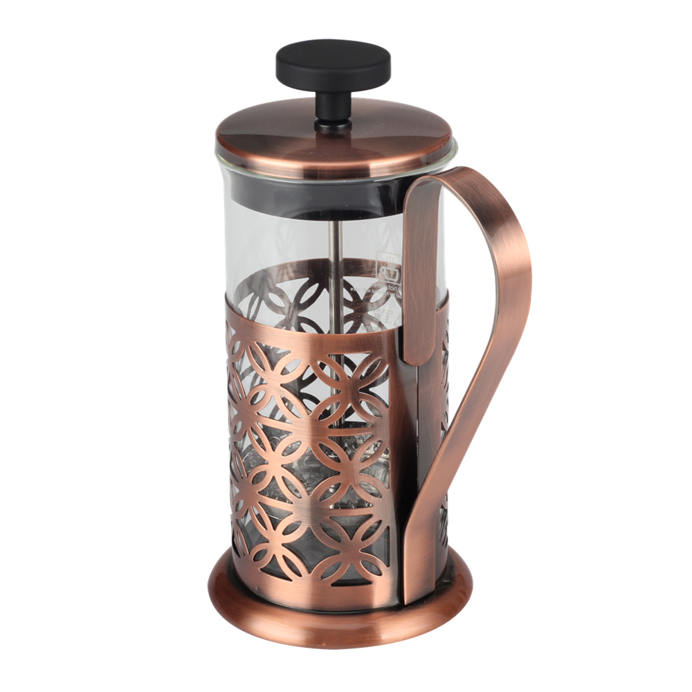 copper frame glass french press