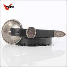 Popular style pu western belt for ladies