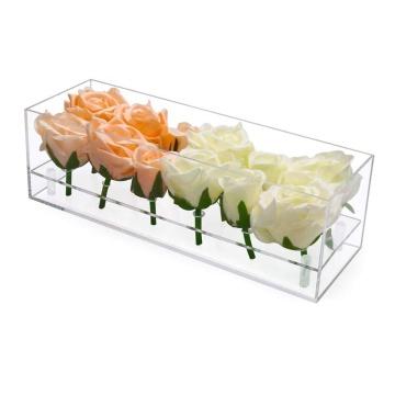 Роскошная цветочная коробка Lucite на 12 слотов