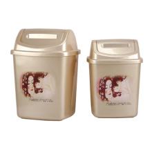 Plastic Creative Flip-on Garbage Bin (A11-2013)