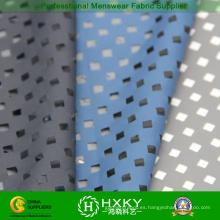Recubiertas de tela de la pongis Poly con diseño perforado