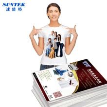 Papel de transferência térmica de t-shirt A4 para 100% algodão