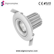 Montagem em superfície / recesso Die Cast Aluminum 7W Rotatable LED COB Downlight