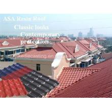 Telhas de telhado plásticas excelentes da resistência de corrosão para materiais de construção
