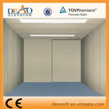 Machine room freight elevator with plate steel