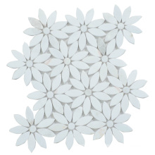 Foshan Factory Exquisitely Made White Marble Flower Mosaic Tile