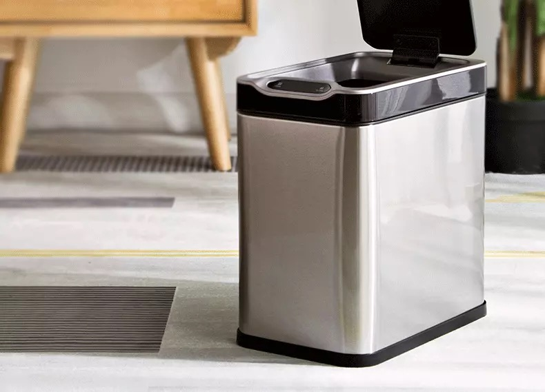 Sensor Trash Can Dustbin Wastebin for Bathroom