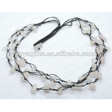 3Wire Knotted Rose Кварцевый ожерелье для чипов