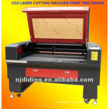 CO2 laser machine with two tubes