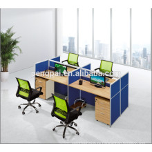 Deep blue color office workstation with screen