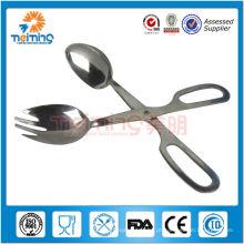 Aço inoxidável cozinha Scissor Tong / pinças de comida de aço inoxidável