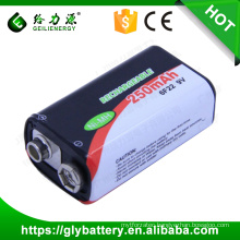 BF22 Rechargeable NIMH Battery 9V 250mAh For Remote Controler