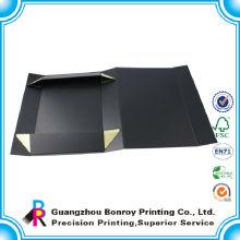 Изготовленный На Заказ Черный Матовый Складной Картонная Коробка Магнитный Упаковка