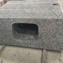 Encimera de baño de granito G439 de mayor venta Encimera de baño prefabricada gris de precio bajo