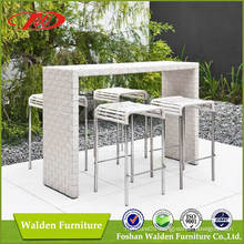 Rattan Bar Set, Rattan Barstool, Rattan Bar Chair