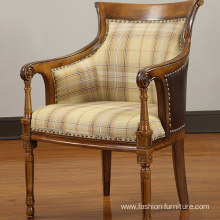 Rubber Carved High Back Lounge Armchair
