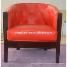 Hotel fashion wooden arm sofa chair XYN78