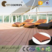 Material reciclado impermeável exterior composto de plástico composto de revestimento de madeira