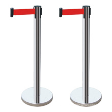 Wholesale Retractable Belt Barrier Polished Stainless Steel stanchion post crowd control barrier